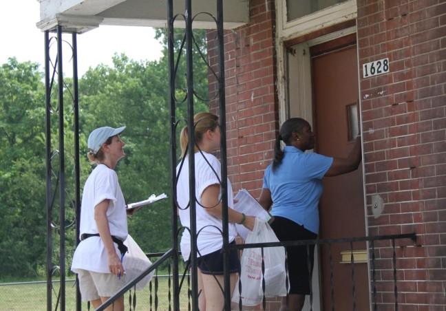 Door-to-door workers