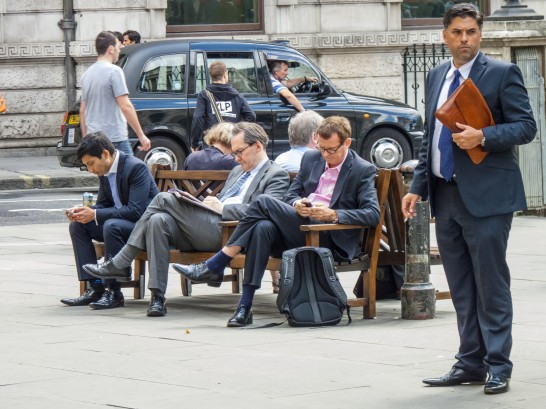 Suited Workers in London