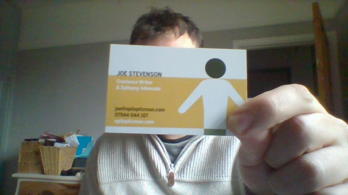 The Epileptic Man Business Card